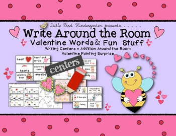Write Around the Room Valentine Words & Fun Stuff Learning Centers