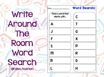 Write Around the Room Word Search