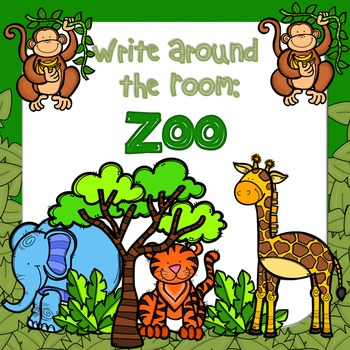 Write Around the Room: Zoo Animals