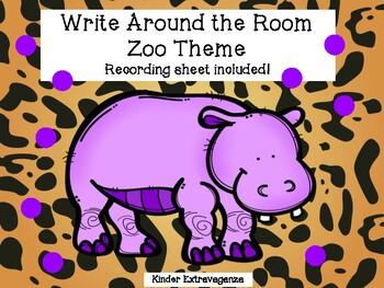 Write Around the Room Zoo Theme