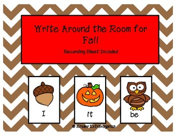 Write Around the Room for Fall!