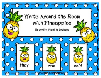 Write Around the Room with Pineapples