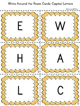 Write Around the Room with the Alphabet
