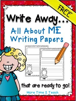 Write Away {FREE- All About ME Writing Papers}