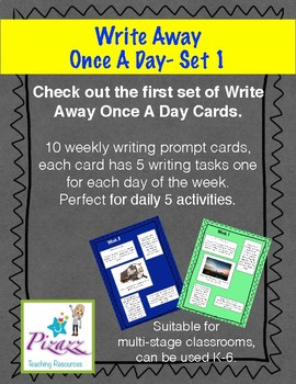 Writing center and Daily 5 writing tasks- Write Away Once A Day