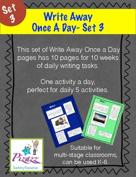 Write Away Once A Day- Set 3