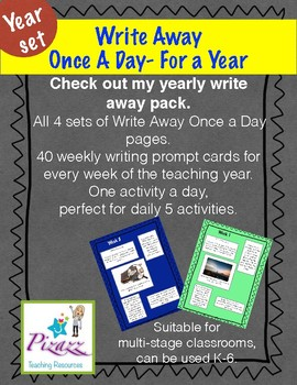 Write Away Once A Day- Yearly Set