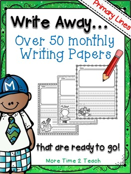 Write Away PRIMARY {Over 50 ready to go monthly writing papers!}