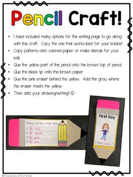 """Write"" Back to School {back to school activities & craft!}"