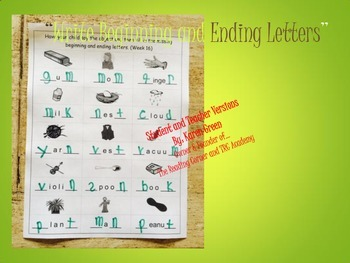 Write Beginning and Ending Letters