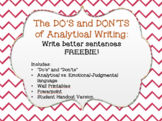 Write Better Sentences - The DO'S and DON'TS of Analytical