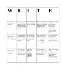 """""""Write"""" Bingo Game"""