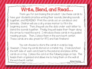Write, Blend, and Read: Beginning Sounds