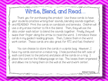 Write, Blend, and Read: Blends