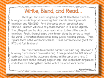 Write, Blend, and Read: Digraphs