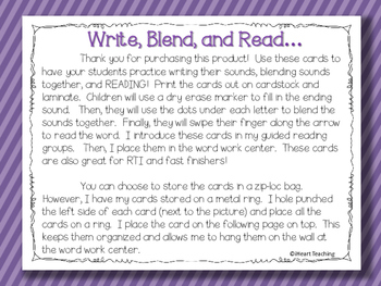 Write, Blend, and Read: Ending Sounds