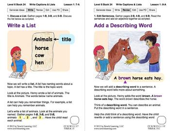 Write Captions and Lists: Lesson 1, Book 24 (Newitt Writing Series)