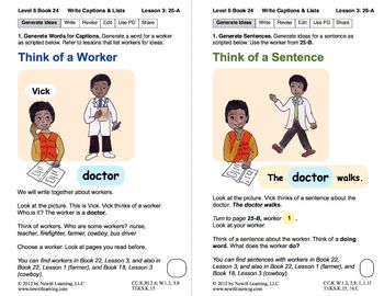 Write Captions and Lists: Lesson 3, Book 24 (Newitt Writing Series)
