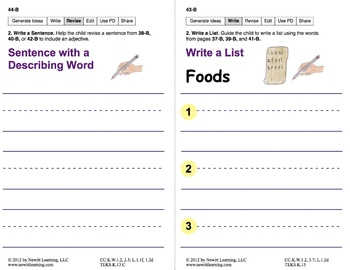 Write Captions and Lists: Lesson 4, Book 24 (Newitt Writing Series)