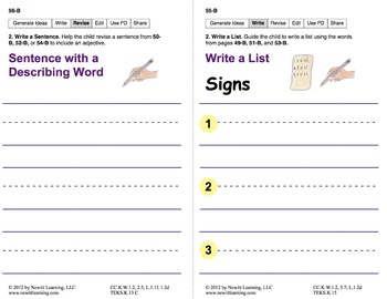 Write Captions and Lists: Lesson 5, Book 24 (Newitt Writing Series)