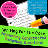 Write Clear Answers to Constructed Response Questions (R.A
