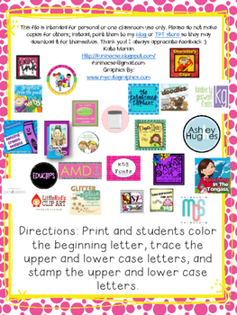 Write, Color, and Stamp Letters!