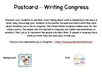 Write Congress Postcard