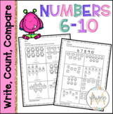 Write, Count, Compare Numbers 6-10   Monsters