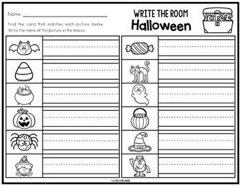 Write & Count the Room {Halloween}