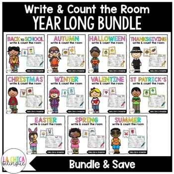 Write & Count the Room {Year Long Bundle}