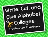 Write, Cut, and Glue Alphabet Collages