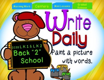 Back to School Sentence Writing Prompts