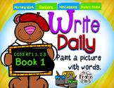 Sentence Writing 1st Grade