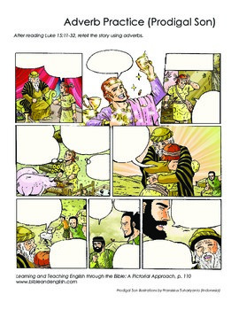 Write Dialogue for Prodigal Son Comic-style Page