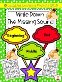 Write Down the Missing Sound  {Ladybug Learning Projects}