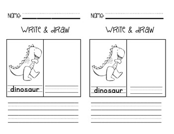 """Write & Draw"" - A Writing/Art Activity Pack"