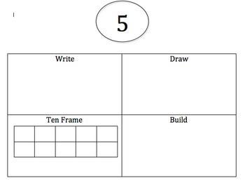 Write Draw Build Ten Frame