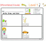 LONG VOWELS Differentiated Literacy Center | Write Draw Color