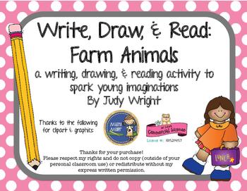 Write, Draw & Read: Farm Animals