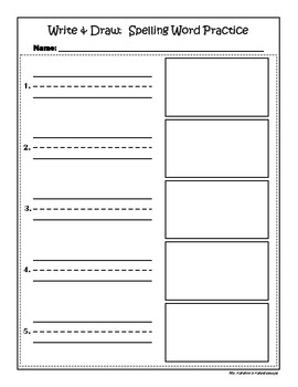 Write & Draw Spelling Practice