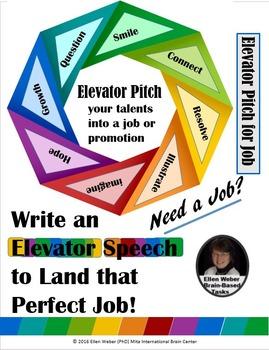 Write Elevator Speech to Turn Talents into a Top Job!