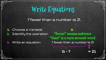 Write Equations (Common Core)