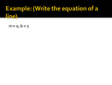 Write Equations of Lines