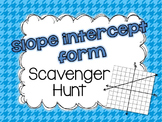 Write Linear Equations in Slope Intercept Form Scavenger Hunt Activity