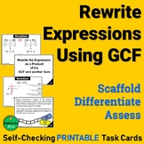 Equivalent Expressions using GCF and Distributive Property