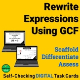 Equivalent Expressions GCF and Distributive Property Task
