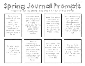 Write Every Day:  48 Journal Prompts (SPRING)