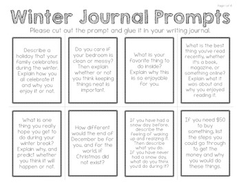 Write Every Day:  48 Journal Prompts (WINTER)