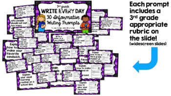 Write Every Day! Informative Writing Prompts 3rd Grade