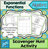 Write Exponential Functions Scavenger Hunt Activity